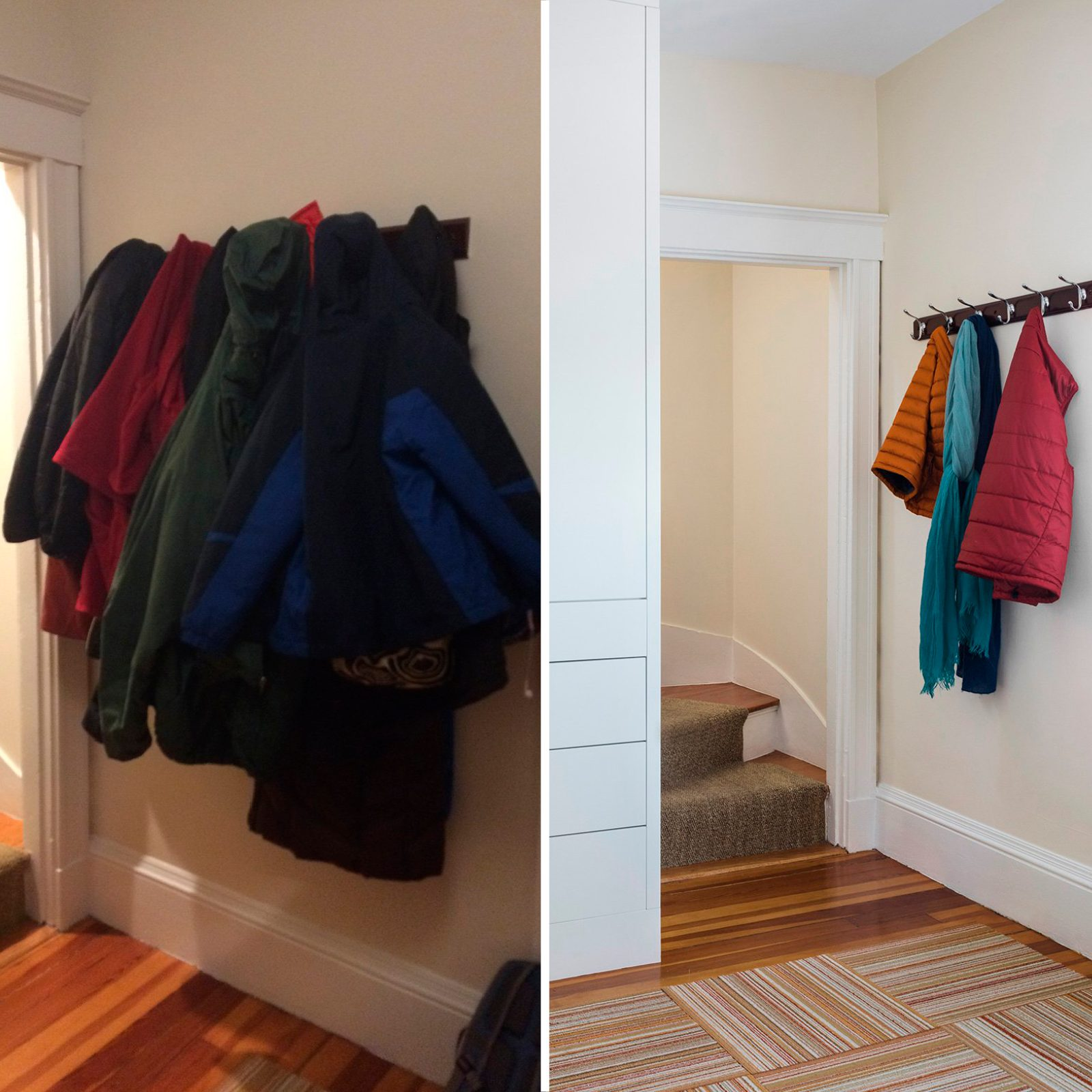 stairway home organization makeover