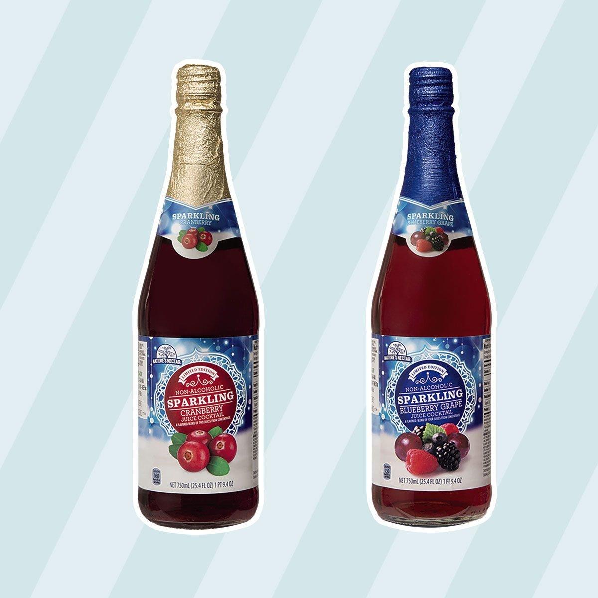 Sparkling Cranberry and Blueberry Grape Cocktails