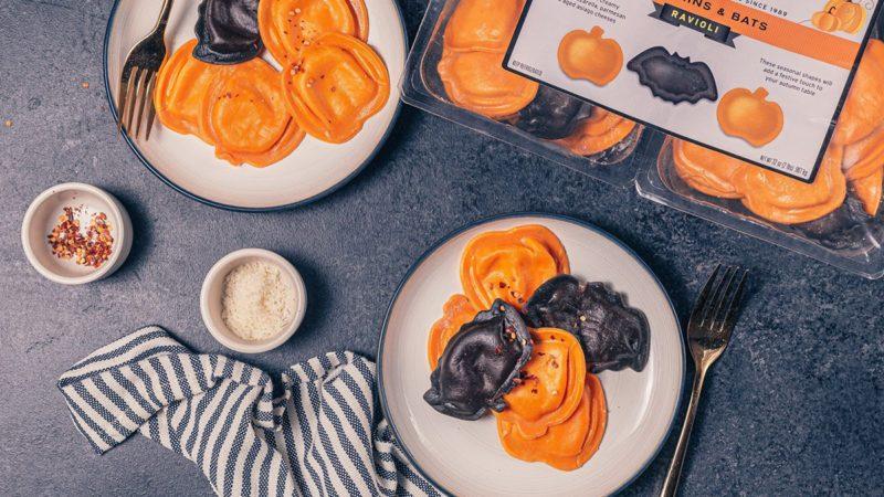 Pumpkins & Bats Costco Ravioli!