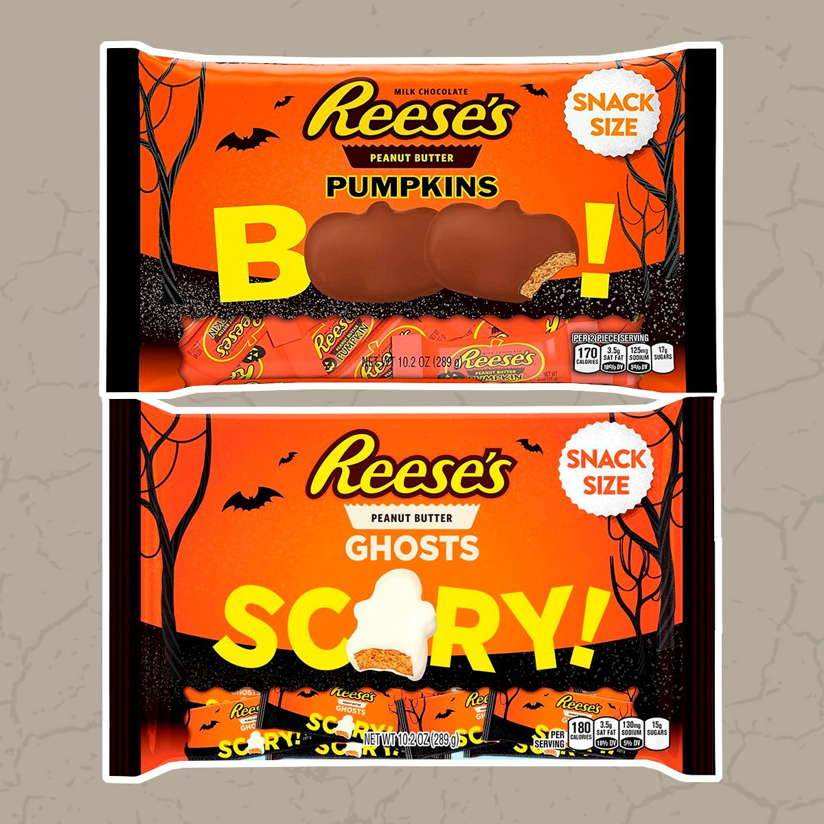 Reeses Peanut Butter Pumpkins and Ghosts Bundle Variety Pack Snack Size