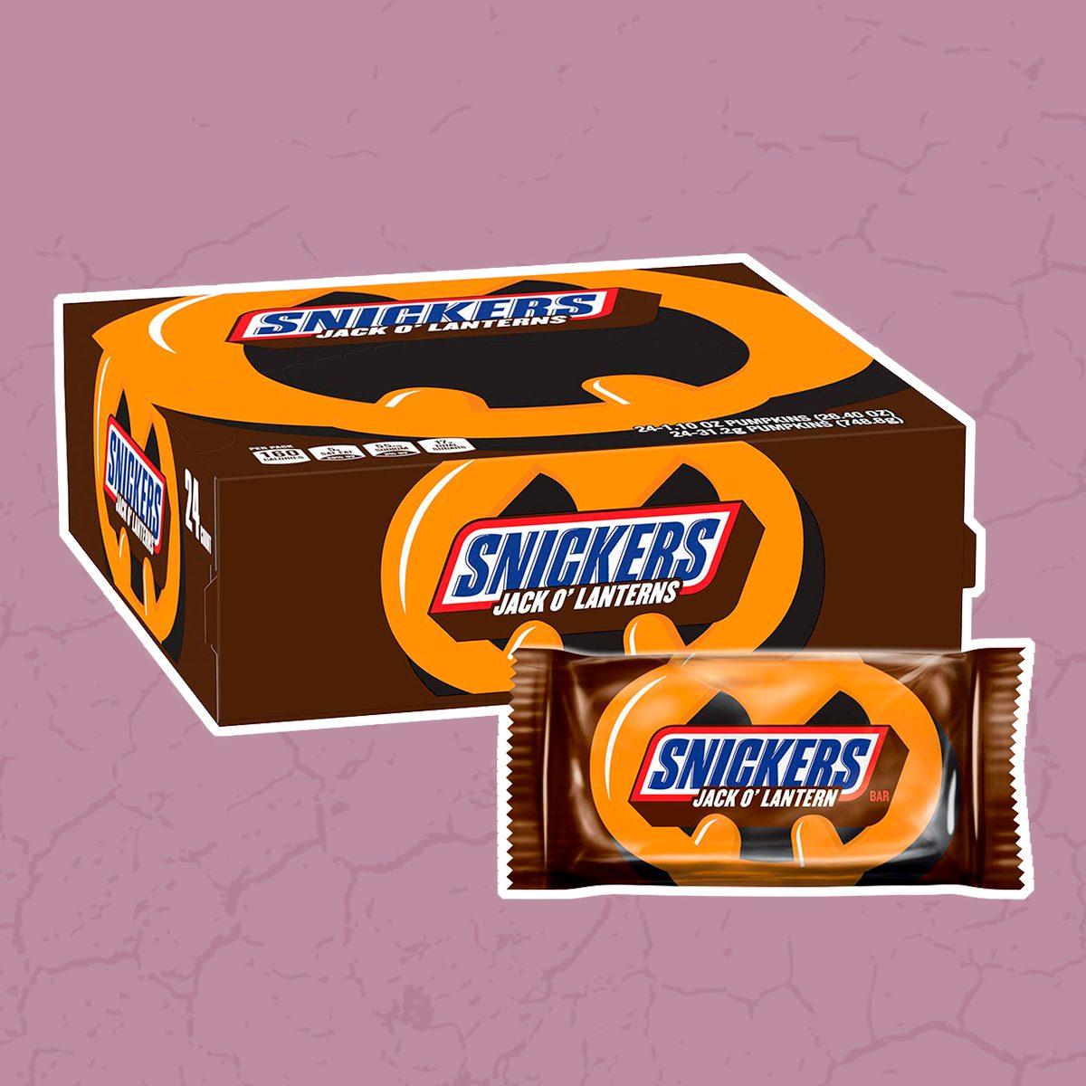 SNICKERS Halloween Pumpkin Singles Chocolate Candy