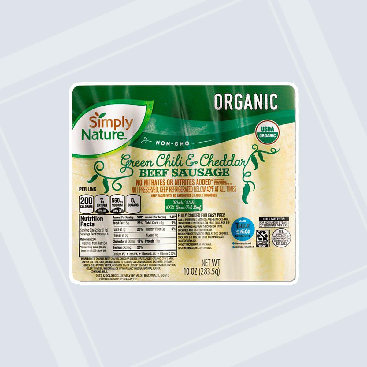 Organic Green Chili & Cheddar Sausage