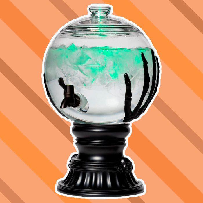 Skeleton Hands Halloween Glass Beverage Dispenser