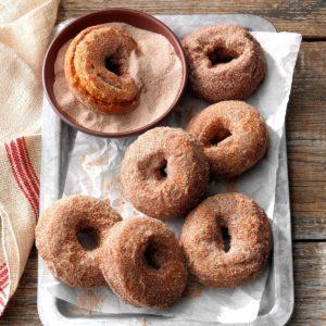 Spiced Sweet Potato Doughnuts