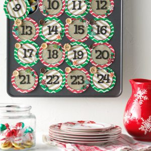 How to Make a DIY Advent Calendar with a Muffin Tin