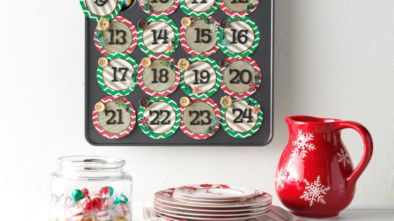 Muffin tray advent calendar