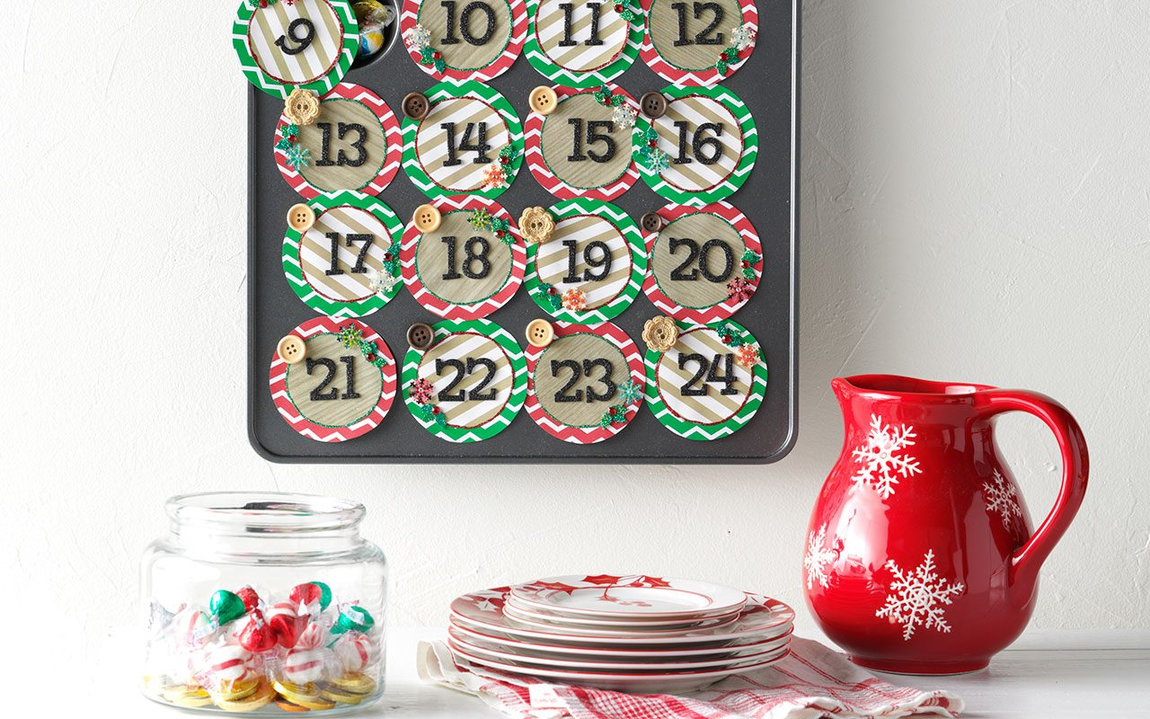 Muffin tray advent calendar