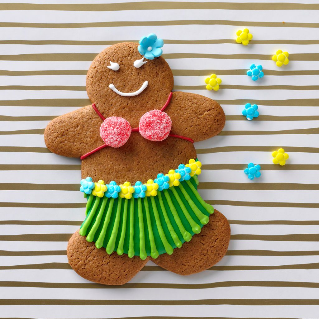 hula girl christmas cookie ginger bread