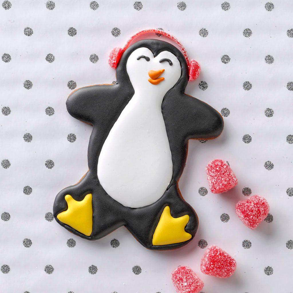 penguin cookie christmas ginger bread