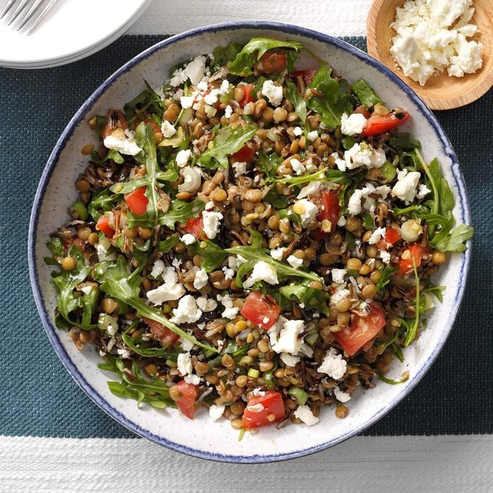 Wild Rice and Lentil Salad