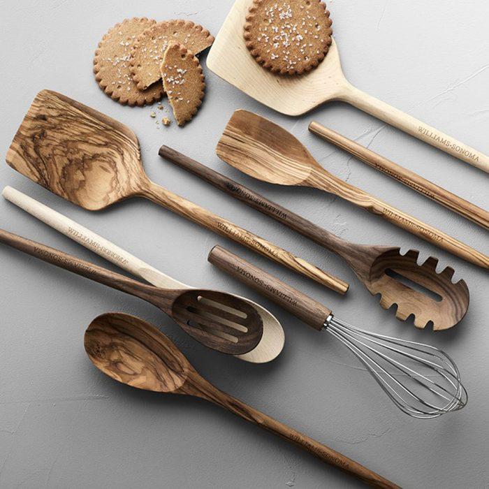 Williams Sonoma Olivewood Spoons, Set of 4