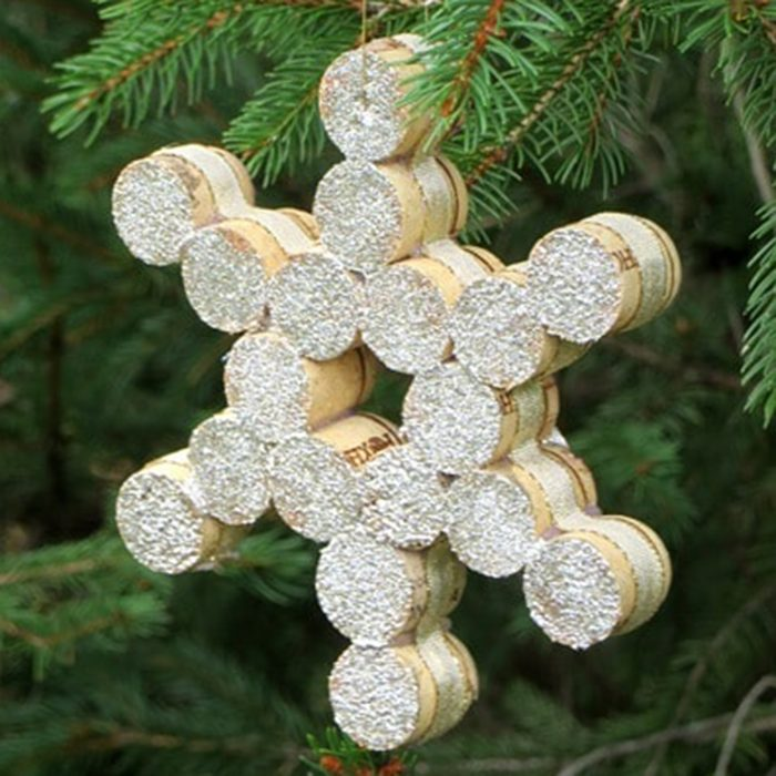 Wine cork snowflake