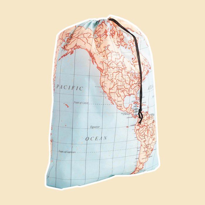 World Map Laundry Bag