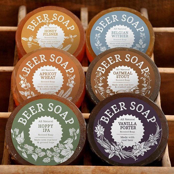 Beer soaps