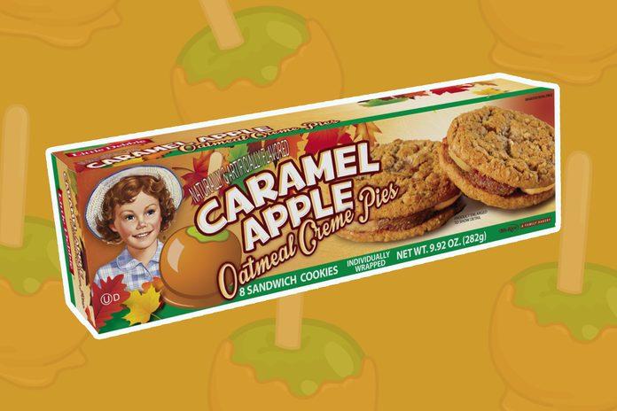 caramel apple oatmeal creme pies