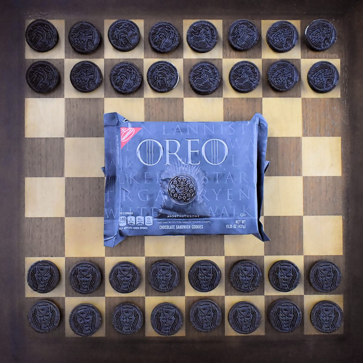 Limited edition Game of Thrones Oreo cookies.