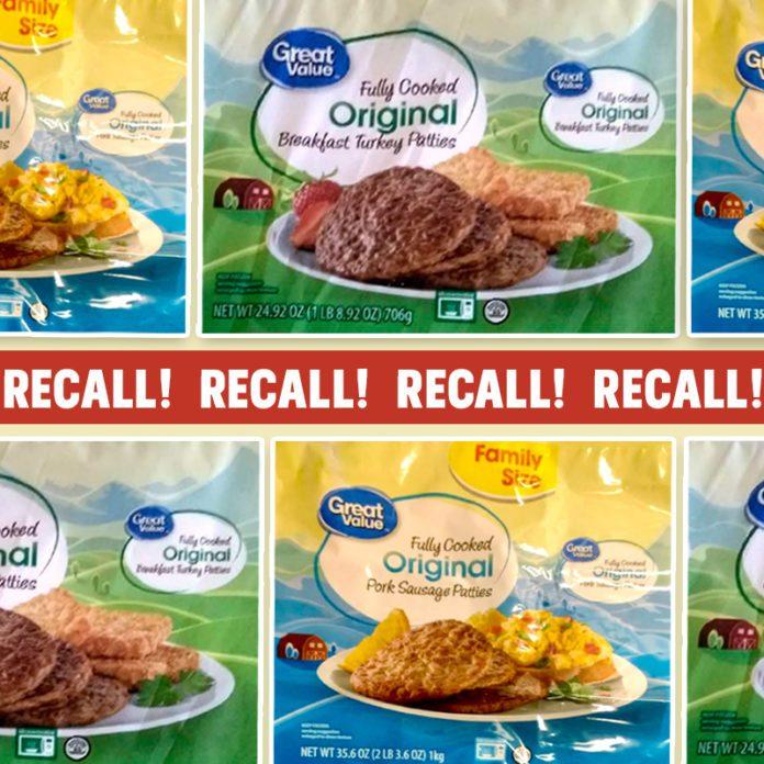 Walmart Recalls 3 Tons of Frozen Sausage for Salmonella Risk