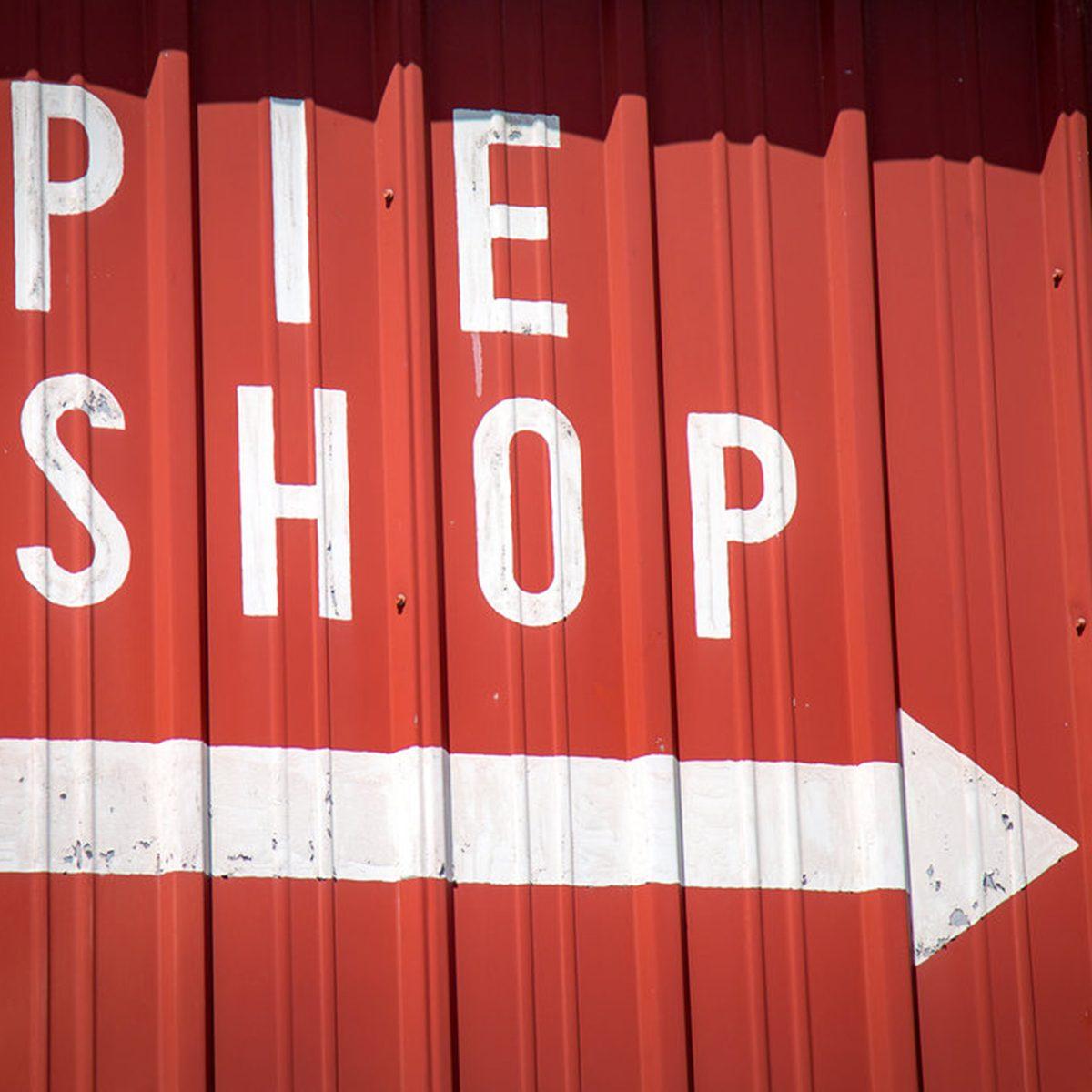 Pie shop sign