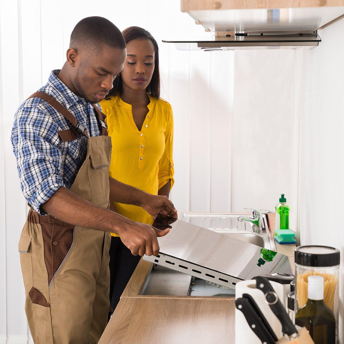 Repairing stove