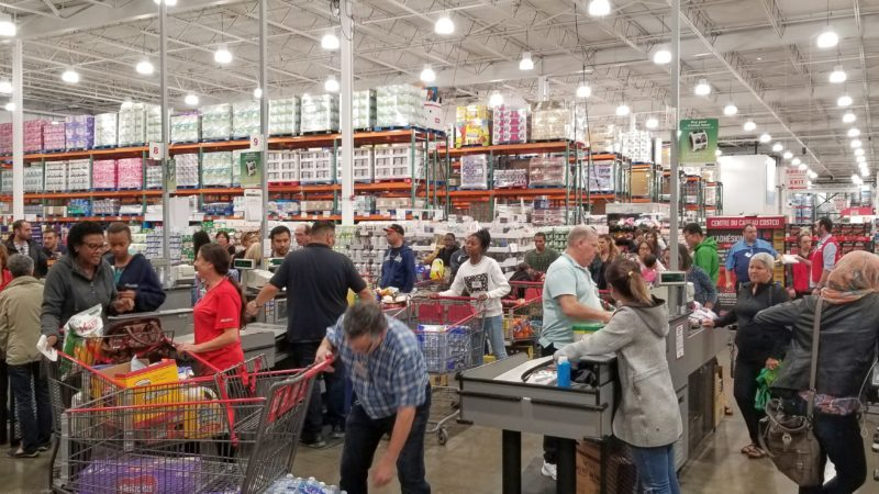 Costco store shoppers