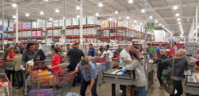 Costco store shoppers