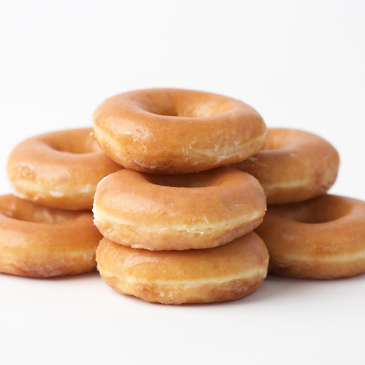 Stack of donuts on a White Background