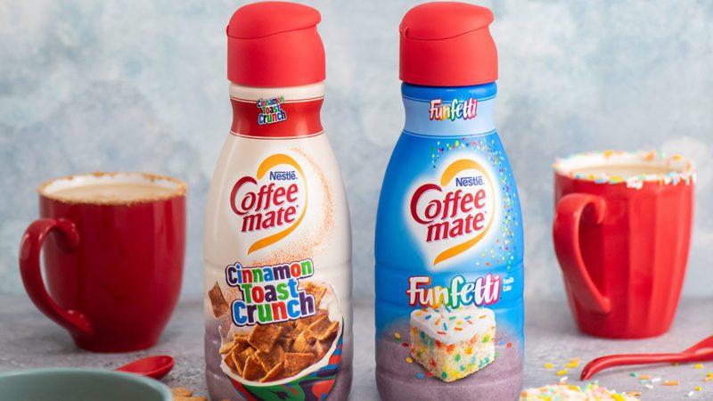 coffee mate creamers funfetti and cinnamon toast crunch