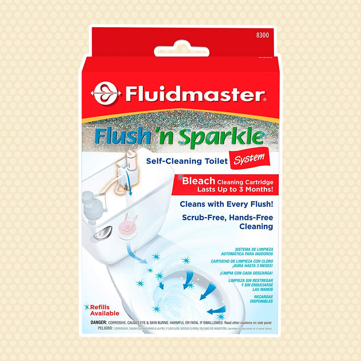 Fluidmaster 8300 Flush 'n Sparkle Automatic Toilet Bowl Cleaning System