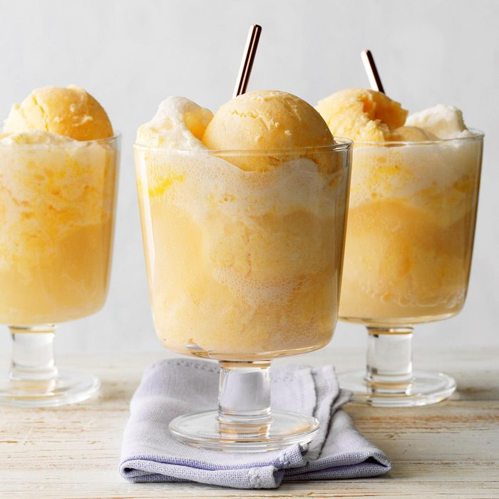 Apricot Ice Cream Soda