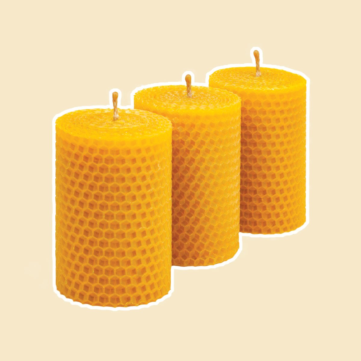 Beeswax Candle Set of 3
