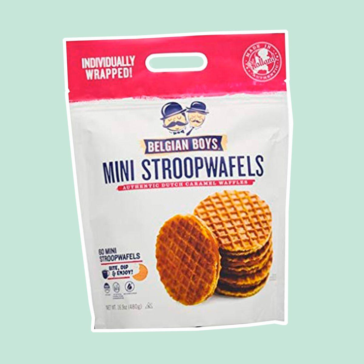Belgian Boys Mini Stroopwafels 60 Count Authentic Dutch Caramel Waffles
