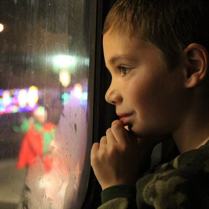 This photo of my son Alex on the Polar Express train (Cuyahoga Valley National Railroad) in Northeast Ohio