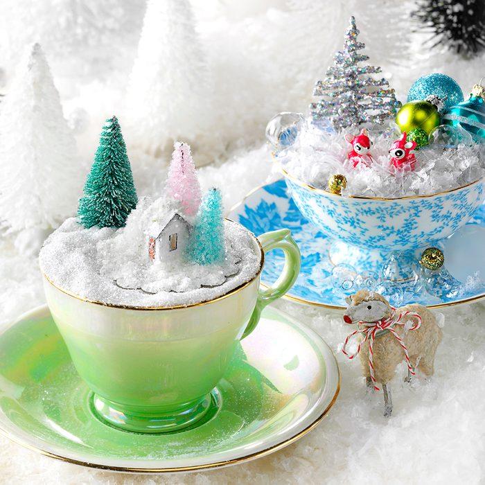tea cup christmas tree