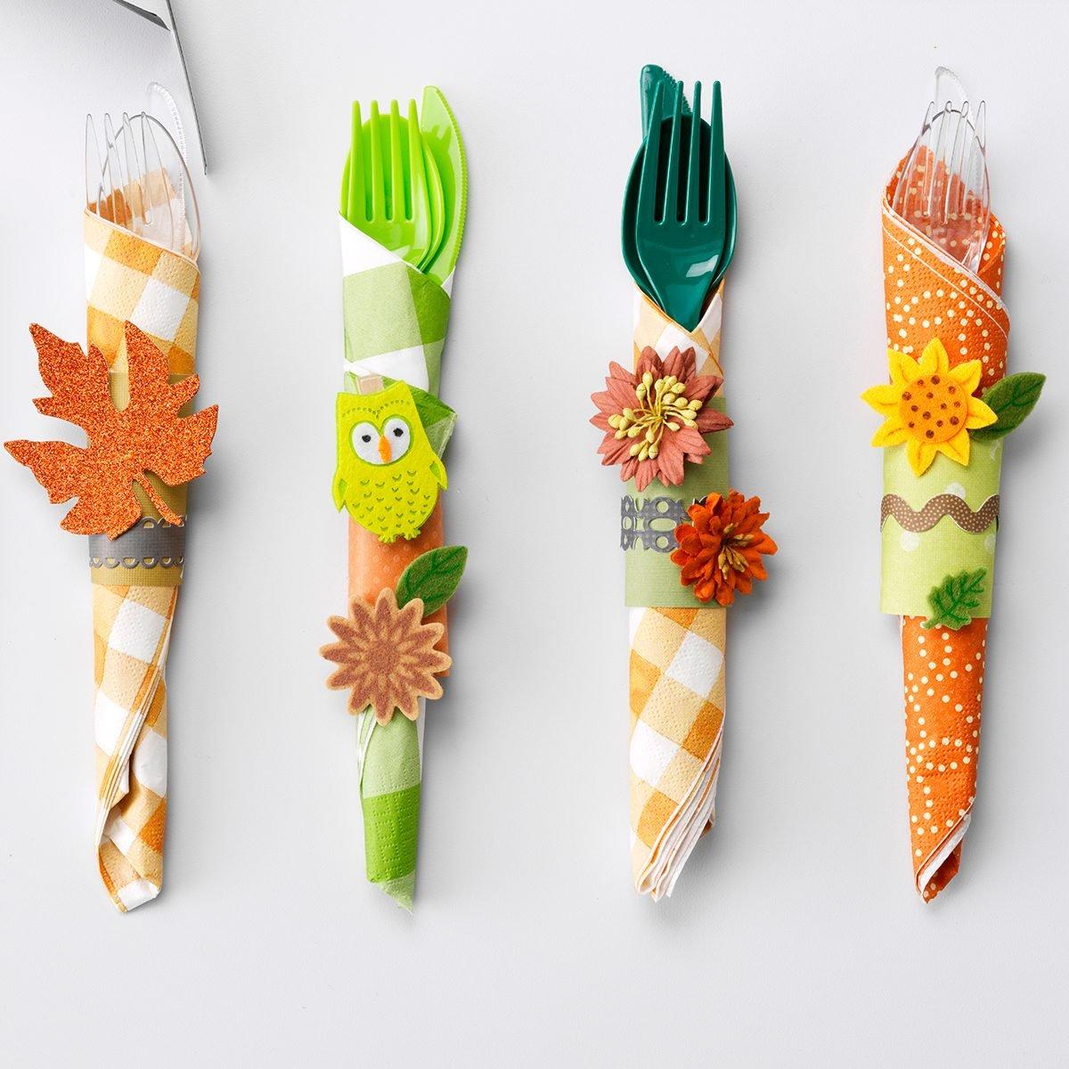 Craft; Thanksgiving napkin rings