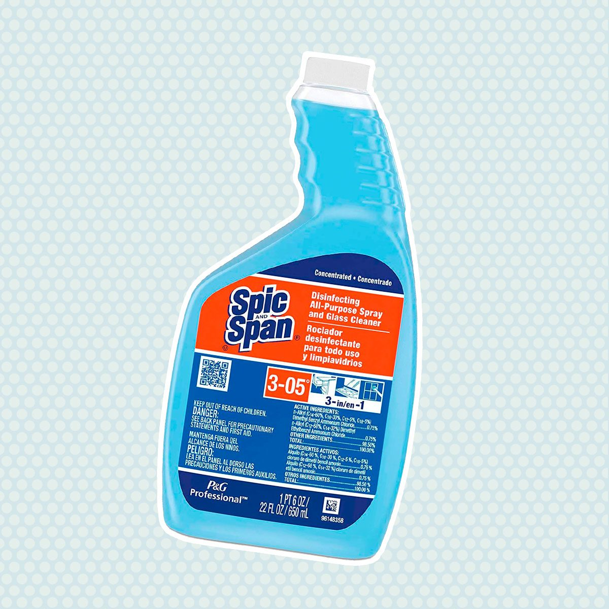 Spic and Span 08636 Disinfecting All-Purpose Spray & Glass Cleaner, Concentrate Liquid, 22oz (Case of 3)