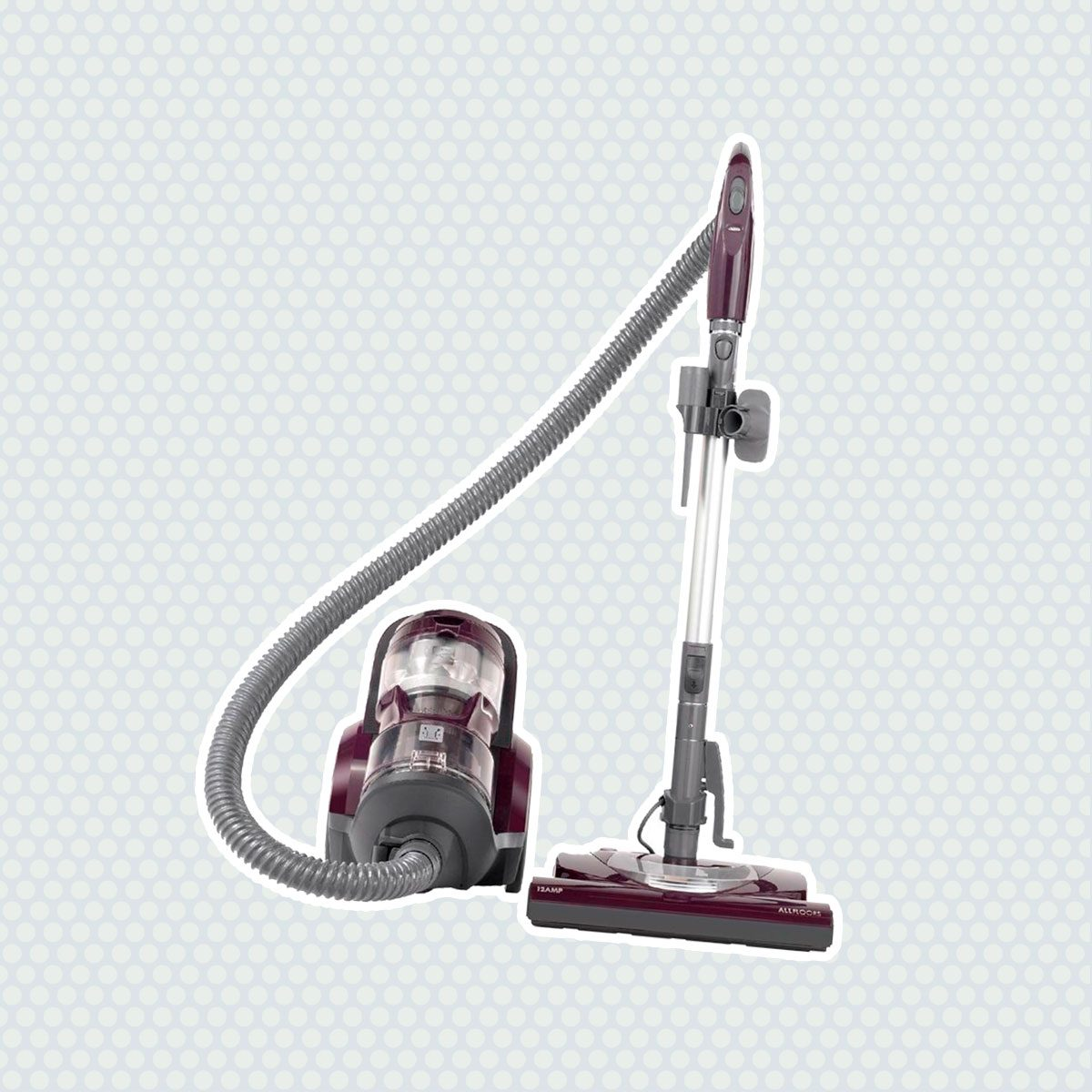 Kenmore 22614 Pet Friendly Lightweight Bagless Compact Canister Vacuum with Pet Powermate, HEPA, Extended Telescoping Wand, Retractable Cord and 2 Cleaning Tools-Purple