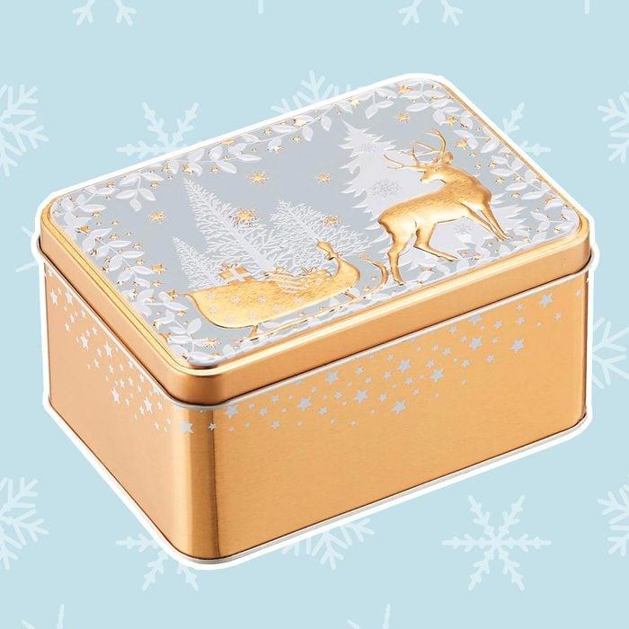 Gold Deer Sleigh Tin