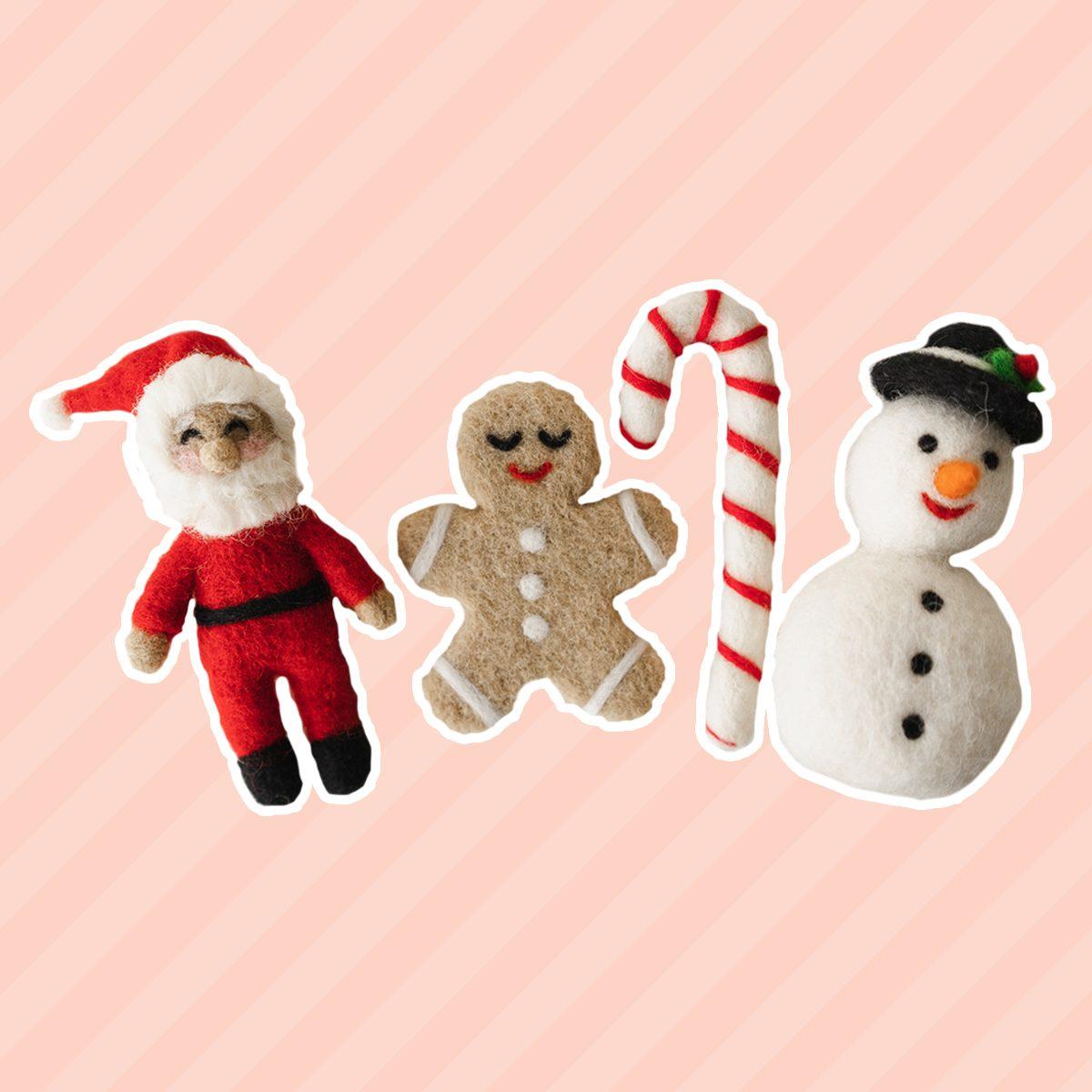 Newborn Christmas Toys,Newborn Toy,Newborn Knitted Toy,Newborn Santa Claus Toy,Newborn Snowman Felted Toy,Christmas Lollipop,Gingerbread Man