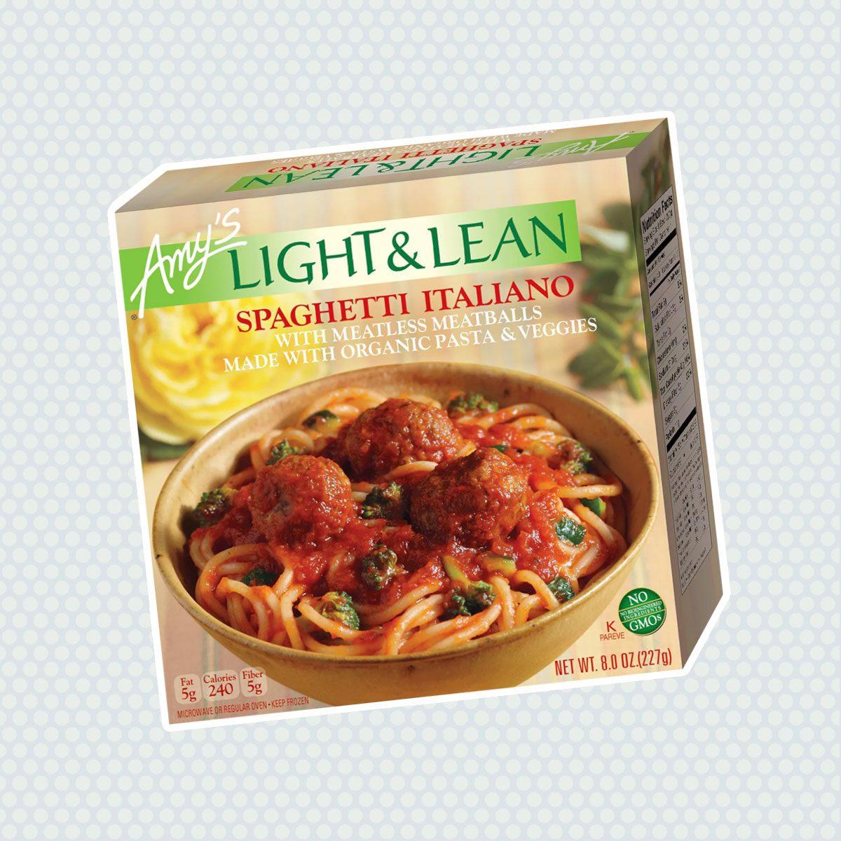 Amy's Light & Lean Frozen Spaghetti Italiano with Meatless Meatballs - 8oz