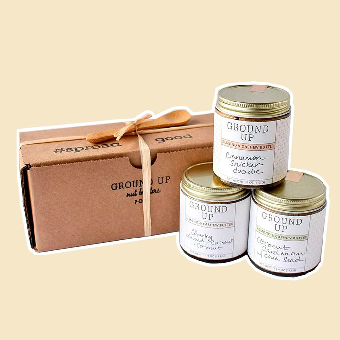 GROUND UP PDX Holiday Nut Butter Tasting Flight 3 Count, 4 OZ