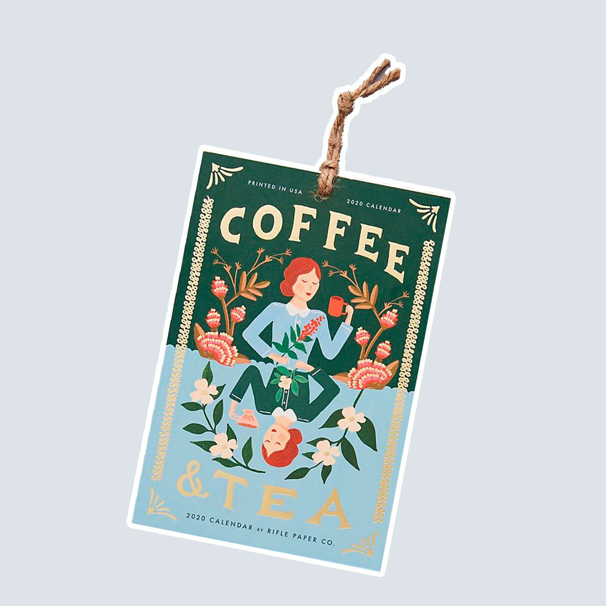 Rifle Paper Co. Tea & Coffee 2020 Hanging Calendar