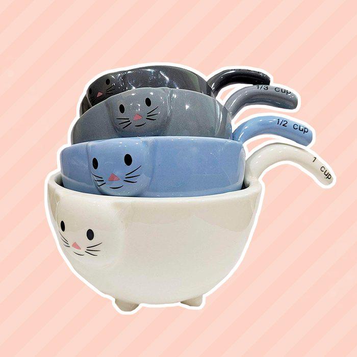 Ceramic Cat Measuring Cups/Baking Bowls