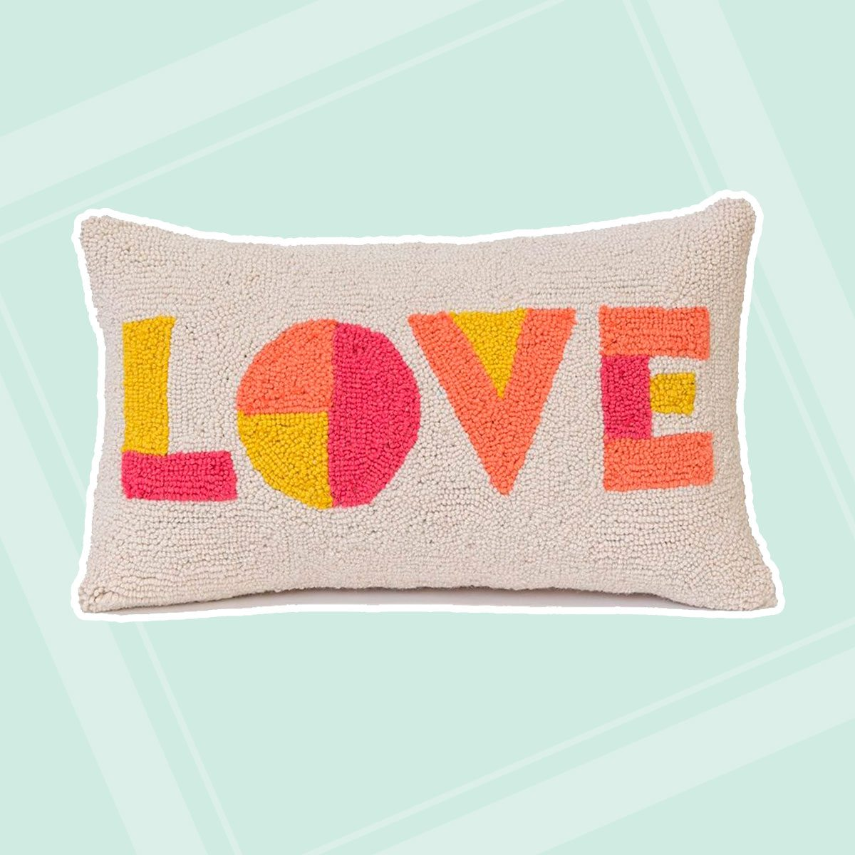 "Pillow that says ""Love"""