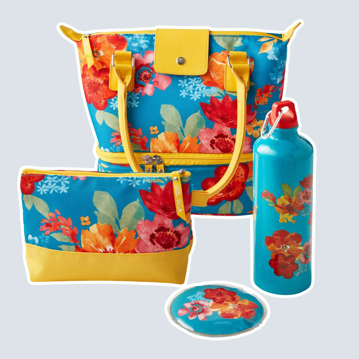 The Pioneer Woman 4 Piece Insulated Lunch Kit, Wildflower Whimsy