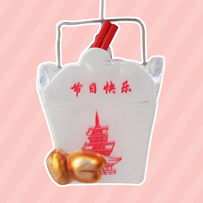 Noble Gems Kurt Adler 4-Inch Glass Chinese Food Container Ornament