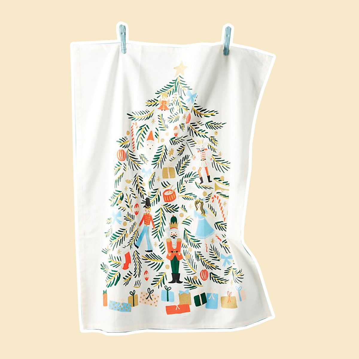 Rifle Paper Co. for Anthropologie Nutcracker Dish Towel