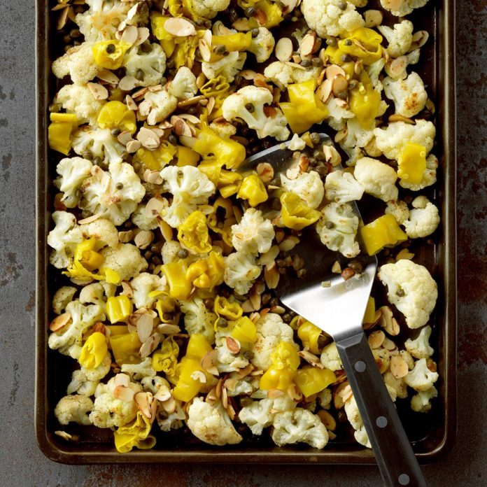 Roast Cauliflower with Pepperocini