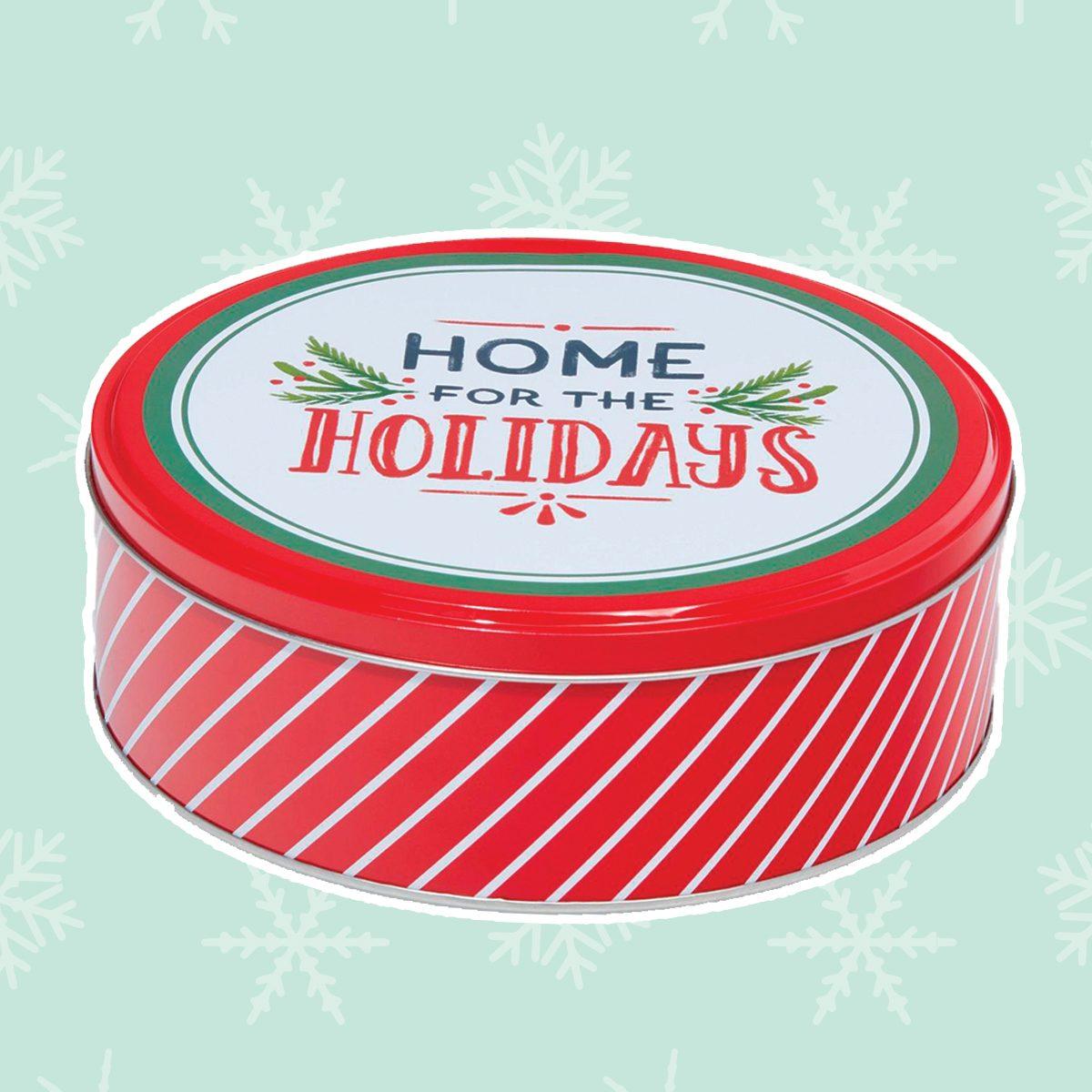 Round Cookie Tin Christmas Gift Box - Wondershop™