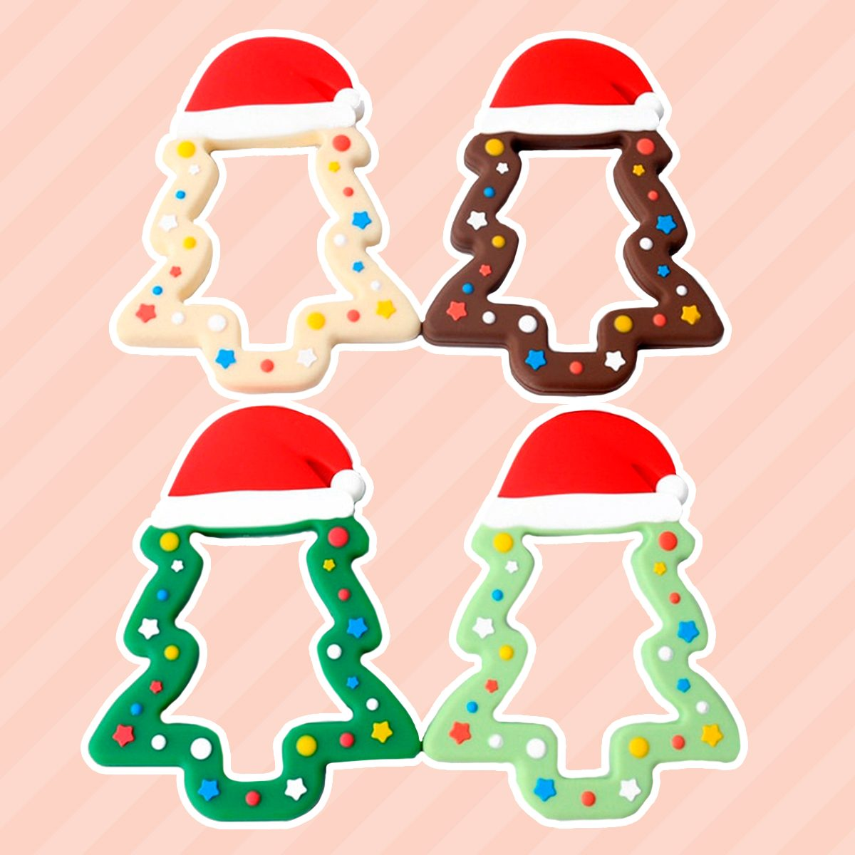 Silicone Christmas Tree Cookie Teether