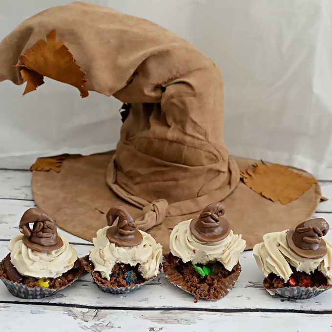 Sorting Hat cupcakes for a Harry Potter themed birthday party